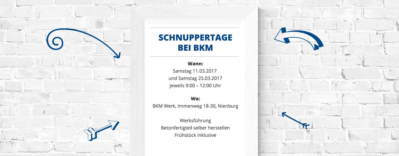 BKM Schnuppertage